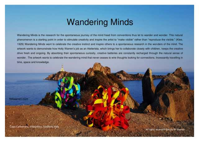 Wandering Minds. Poster with statement-1